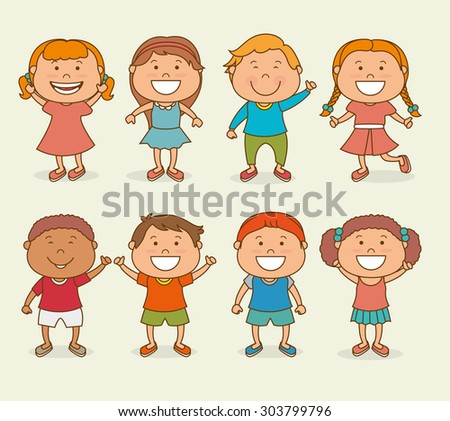 Happy kids design, vector illustration eps 10. - stock vector