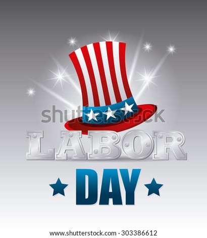 Happy labor day card design, vector illustration eps 10. - stock vector