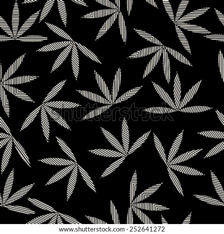 Happy leaves seamless pattern design.Texture for web, print, wallpaper, decals, fall winter fashion, textile design, invitation or website background, holiday home decor - stock vector
