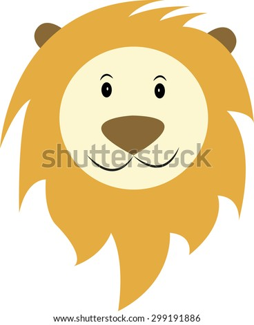 Happy lion vector - stock vector