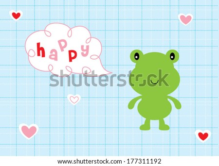 happy lovely frog