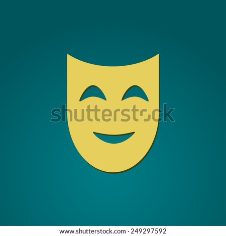 Happy mask icon. Vector illustration.