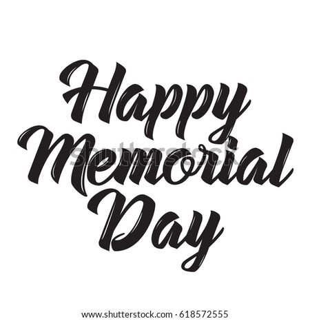 Happy Memorial Day, Text Design. Vector Calligraphy. Typography Poster.  Usable As Background