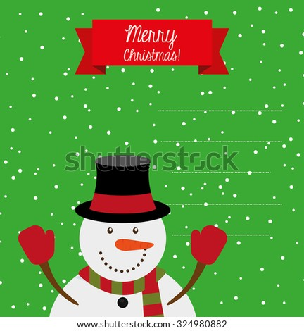 happy merry christmas design, vector illustration eps10 graphic