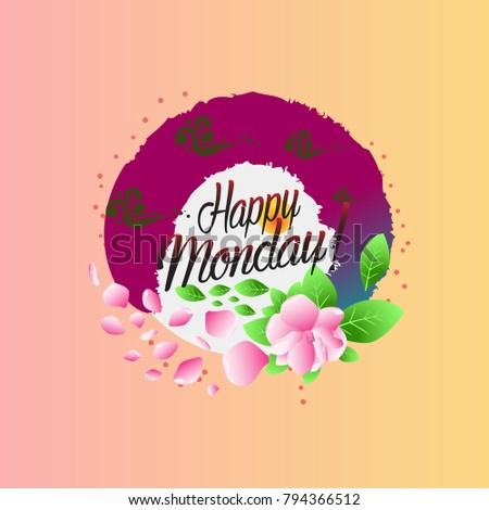 Happy monday beautiful greeting card stock vector 794366512 happy monday beautiful greeting card m4hsunfo