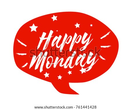 Happy monday beautiful greeting card poster stock vector 761441428 happy monday beautiful greeting card poster with comic style text m4hsunfo
