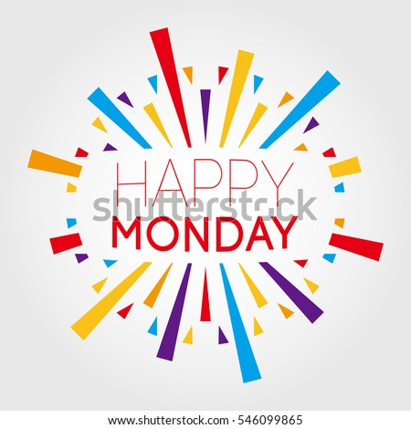 Happy monday vector illustration poster banner stock vector hd happy monday vector illustration poster banner greeting template voltagebd Gallery