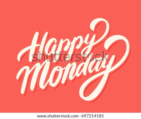 Happy monday vector lettering stock vector 697214185 shutterstock happy monday vector lettering m4hsunfo