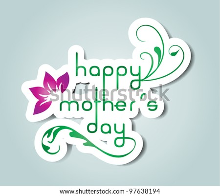 Happy mother´s day - stock vector