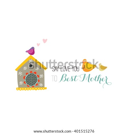 Happy Mother's day, flowers, tags - stock vector