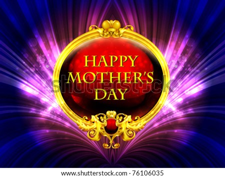 Happy Mother's Day greeting - stock vector