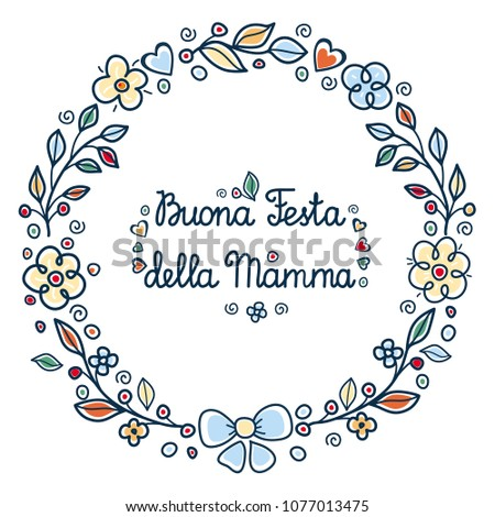 Happy mothers day greeting card italy stock vector hd royalty free happy mothers day greeting card in italy english translation happy mothers day buona m4hsunfo