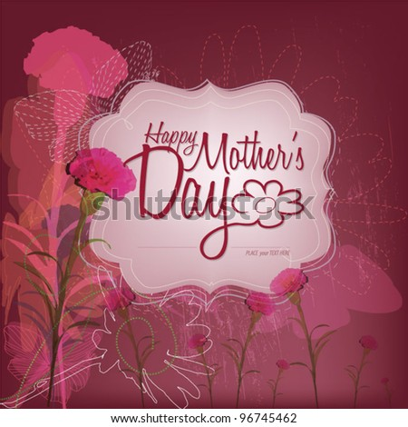 Happy Mother's Day - Lovely Card - stock vector
