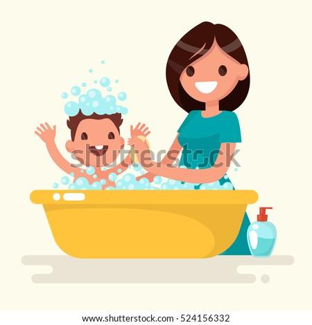 baby bath stock images royalty free images vectors shutterstock. Black Bedroom Furniture Sets. Home Design Ideas