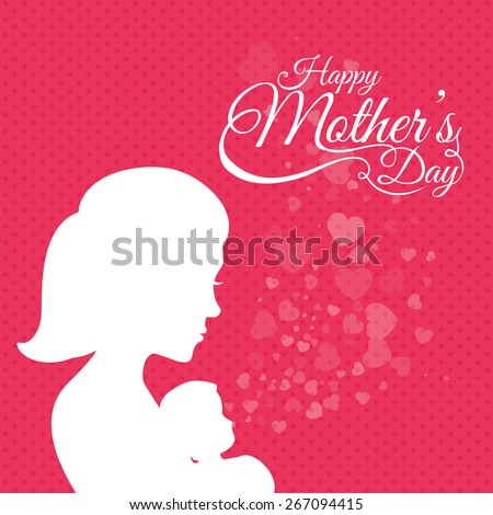 Happy mothers day card design vector stock vector 2018 267094415 happy mothers day card design vector illustration m4hsunfo