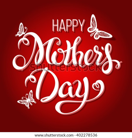 Happy Mothers Day Lettering,Typographical Design. Isolate Symbols. Mothers Day Signs. Text Design.Vector illustration