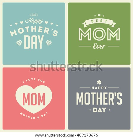 Happy mothers day. Retro background