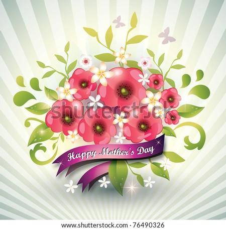 Happy mothers day-Vector Eps10 - stock vector