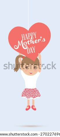 Happy mothers day. Vector illustration - stock vector