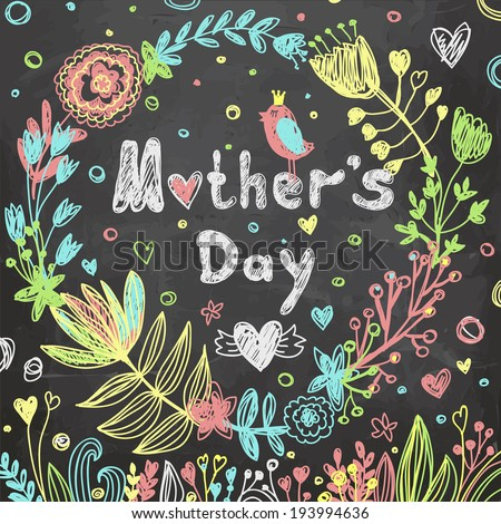 Happy Mothers's Day - stock vector