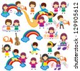 Happy Music Kids - stock vector