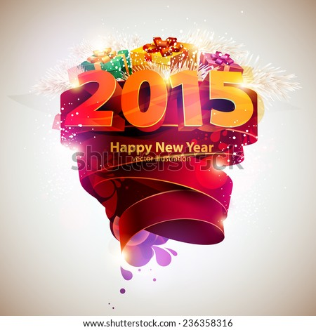 Happy new year 2015 - stock vector