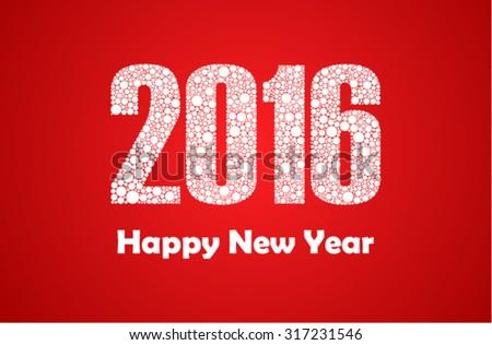 Happy 2016 New Year - stock vector