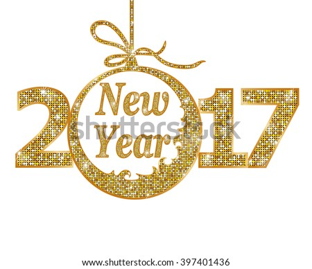 Happy New Year 2017  - stock vector