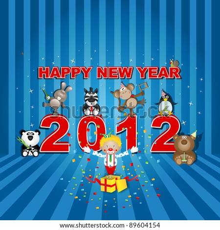 Happy New Year 2012 - stock vector
