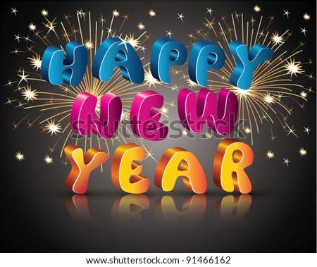Happy New Year - stock vector