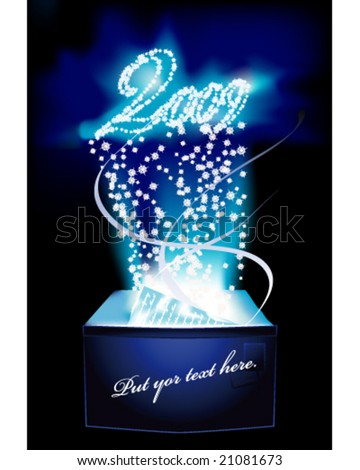 HAPPY NEW YEAR A letter full of magic. - stock vector