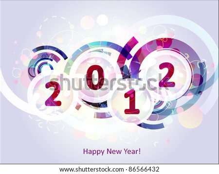 happy new year 2012 abstract background - stock vector