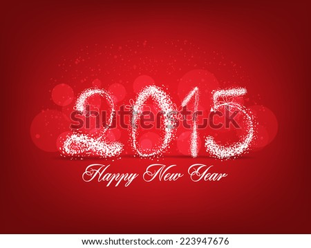 Happy new year abstract light background - stock vector