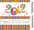 Happy new year 2012! All elements are layered separately in vector file. - stock vector