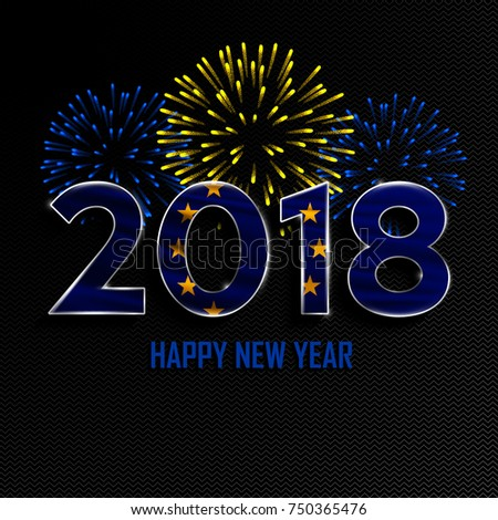 Happy new year merry christmas 2018 stock vector 750134062 shutterstock - Happy new year sound europe ...
