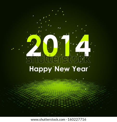 Happy New Year 2014 background - stock vector