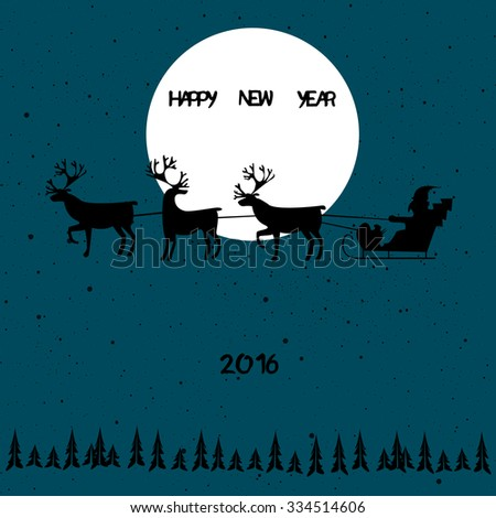 Happy New Year background for your design - stock vector