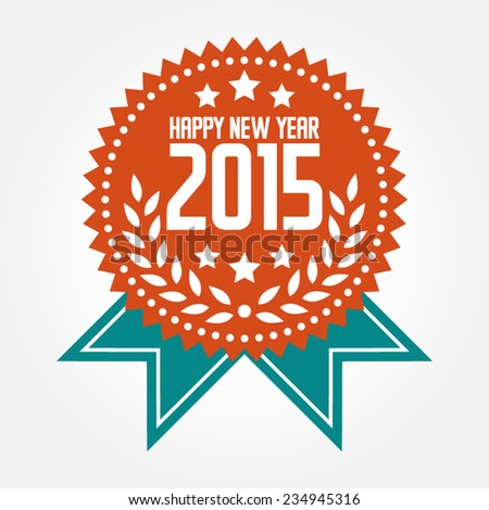 Happy New Year 2015 Banner Badge
