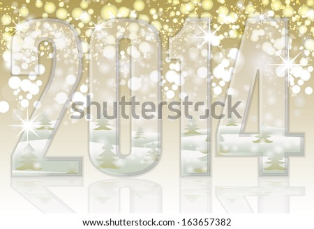Happy New 2014 year banner, vector illustration