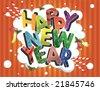 Happy new year card - stock vector