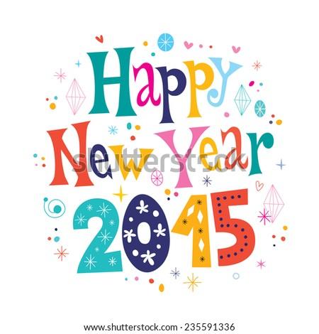 Happy New year 2015 card - stock vector