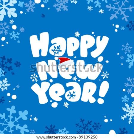 Happy new year card. - stock vector