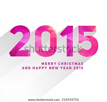 Happy New Year 2015 Card Design