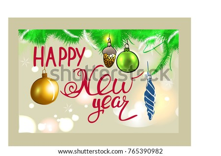 happy new year card hand lettering calligraphy styles quote sketch inspiration vector vintage