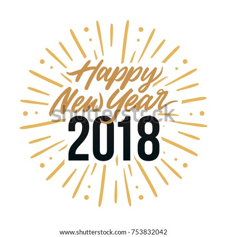 happy new year 2018 card template stock vector 753832042 shutterstock
