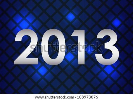 Happy New Year card vector - stock vector