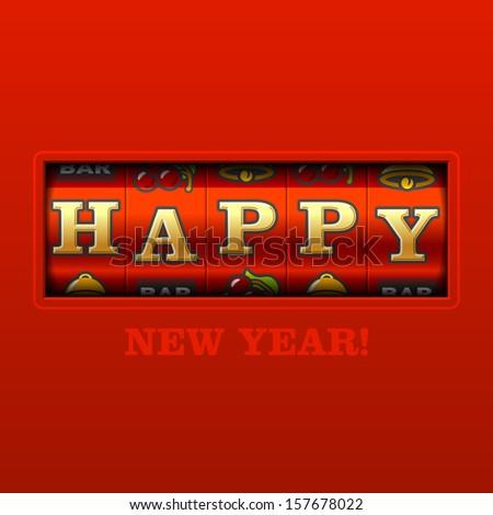 Happy New Year card. Vector. - stock vector