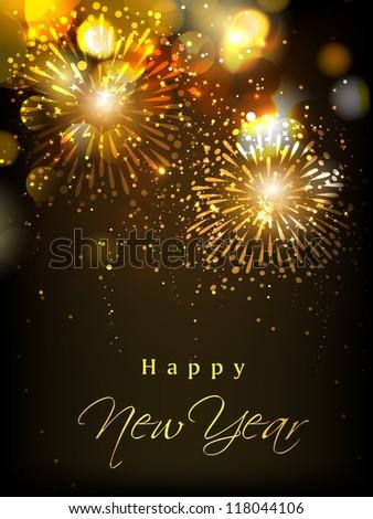 Happy New Year celebration background. EPS 10. - stock vector