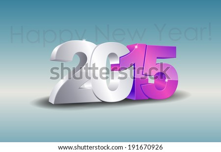 Happy new year 2015 celebration greeting card design. (EPS10 Vector)
