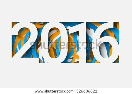 Happy new 2016 year. Creative background for your design - stock vector